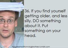 put something on your head lol #vlogbrothers #DFTBA