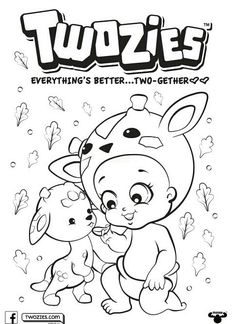 Twozies Coloring Page