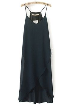 Sexy Cami Chiffon Dress with Irregular Hem
