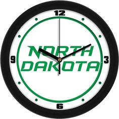 University of North Dakota Glass Wall Clock