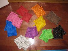 Make beanbags for toss games