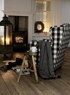 Love the Black and White Buffalo Check   House & Home