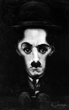Caricaturas de famosos * http://9musas.net/caricaturas-de-famosos-6/ #Chaplin