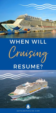 Will we really cruise again in 2020? We have put together this list of when all the major cruise lines are expected to resume service following the cruise suspension. Get the most up to date information on all cruise lines including Royal Caribbean, Norwegian Cruise Line, Carnival, and more. #cruise #cruiseplanning #RoyalCaribbean #CarnivalCruise #NorwegianCruise #eatsleepcruise Southern Caribbean Cruise, Eastern Caribbean Cruises, Western Caribbean, Royal Caribbean, Baja Cruise, Cruise Travel, Cruise Tips, Cruise Excursions, Cruise Destinations