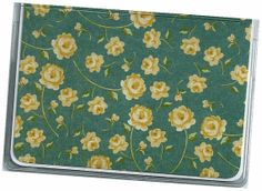 Card Case / Mini Wallet Tea for Two Floral  by rabbitholeonline, $4.25