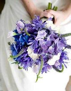wedding bouquets in purple lavender blue and champagne | Bridal Bouquet Ideas