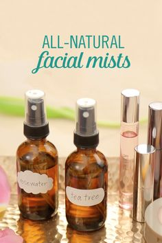 Take care of all your stress with All-Natural DIY Facial Mists. These mists smell wonderful, will keep you cool, and are great for your skin. One spritz and you will be awake with fabulous skin.