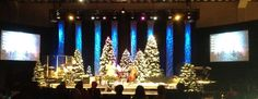 Great Christmas stage design.