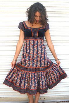 1970s Gunne Sax dress // calico prairie