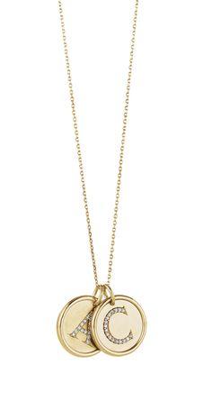 Diamond Initial Necklaces Item #85088