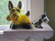 yellow chalkware scottie