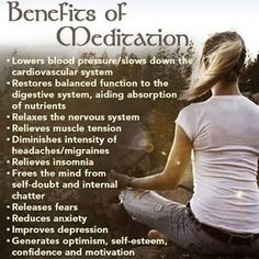 Benefits of meditation and motivation to practice yoga~ Meditation Mantra, Free Guided Meditation, Meditation Benefits, Meditation Practices, Mindfulness Meditation, Yoga Benefits, Health Benefits, Health Tips, Meditation Center