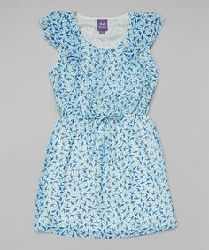 Love this Aqua & Navy Birds Dress by BeBop on #zulily! #zulilyfinds For Sophie