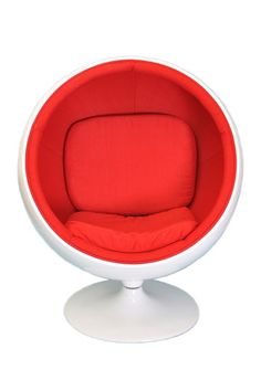 Tadpoles  Mod Dome Swivel Chair - Red