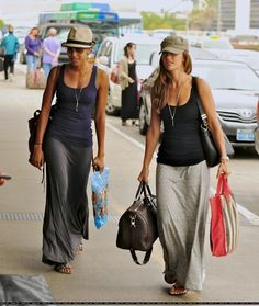 Comfortable travel wear. Minka Kelly, Airport | I Heart Great Design