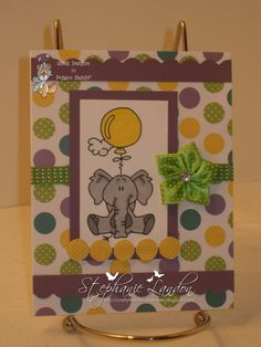 Critter Balloons - Elephant, Bugaboo Stamps