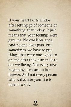 If Your Heart Hurts A Little After Letting Go Of Someone Or Something, That's Okay - Wise Words - Hurt Quotes, Wisdom Quotes, Words Quotes, Quotes To Live By, Quotes For Him, Me Quotes, Motivational Quotes, Inspirational Quotes, Sayings
