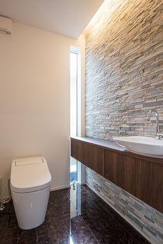 Modern Toilet, Small Toilet, Interior Design Kitchen, Bathroom Interior, Toilette Design, Zen House, Small Bathroom With Shower, Hotel Room Design, Restroom Design