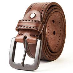 Top Layer Leather Cowhide Belt Fashion Technology Men Belt Imported Alloy Buckle  Strap Wide Cinto Masculino Luxury Cummerbund dc3318e319