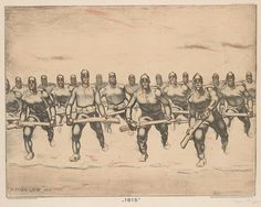 Albin Egger-Lienz – Color lithograph on ivory laid paper Guy Drawing, Art Institute Of Chicago, Pictures Images, World War I, Wwi, Artist Art, Poster Size Prints, Moose Art, Sketches