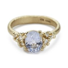 Unique Sapphire and Diamond Engagement Ring from Ruth Tomlinson