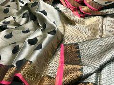 Designer muslin silk blend drapes vd bp shipping free Order what's app 7093235052 Modern Saree, Blouse Designs, Plaid Scarf, Sarees, Collections, App, Silk, Facebook, Dresses