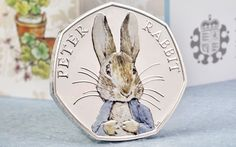 The anthropomorphic vegetable thief will feature on a silver 50p released to   mark the 150th anniversary of the author's birth in 1866