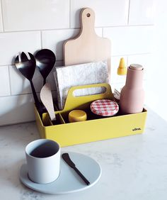 The Vitra Toolbox is great for keeping your kitchen or dining table neat and tidy!