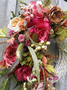 Fall Wreath Autumn Wreaths Elegant Fall Floral Wreath