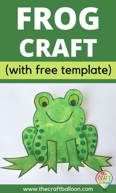 Fun frog craft for kids! Free printable template included along with clear and simple step by step instructions. A fun paper craft and easy to make! Great for preschool age children. Click through to visit The Craft Balloon to find out more. #frogcraft #kidscrafts #thecraftballoon Frog Crafts Preschool, Frog Activities, Preschool Colors, Kindergarten Crafts, Preschool Learning Activities, Preschool Homework, Letter Activities, Toddler Activities, Animal Crafts For Kids