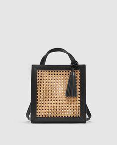 Imagem 3 de TOTE BAG PEQUENA EM VIME da Zara