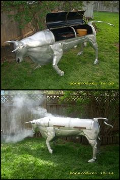 This is what you get when grilling and smoking meets art...