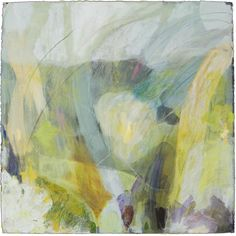 "Ellen Levine Dodd - ""Smokey Cove 3"" - 30"" x 30"" - acrylic mixed media on cotton rag paper - available at Anne Neilson Fine Art"