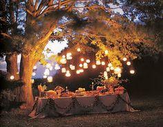 lighting for backyard party