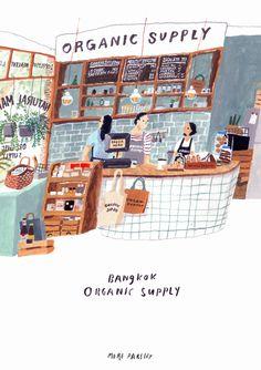 Organic Supply, Bangkok Illustration by Moreparsley