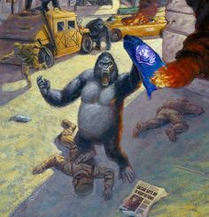 Simians sack the city Planet Of The Apes, Primates, Post Apocalyptic, Tv Series, About Me Blog, Novels, Comic Books, Comics, Painting