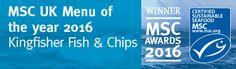 MSC UK Menu of the year 2016 #sustainable #fishandchips