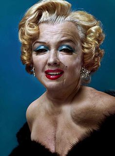 "If Marilyn Monroe had not died 49 years ago today, this is what Czech artist (and quantum physicist) Andrzej Dragan thinks she might have looked like. She appears ""with smudged lip stick and eye shadow, her smile tightened, perhaps after plastic surgery. Her fashionable, low-cut clothes no longer sit so well on a body that is beginning to succumb to the ravages of time."" Goodbye, Norma Jeane."