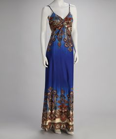 Take a look at this Royal Status Maxi Dress by Fantazia on #zulily today! I use to wear things like this in the 70's...still love the look!!! :0)