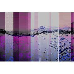 "ParvezTaj 'Fuschia Water Bubbles' by Parvez Taj Painting Print on Wrapped Canvas Size: 24"" H x 36"" W x 1.5"" D"