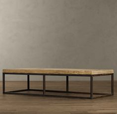restoration hardware reclaimed pine and steel clamp coffee table