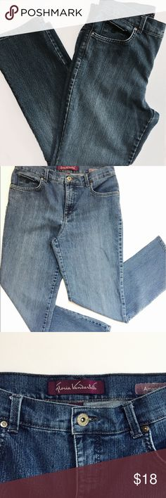 Gloria Vanderbilt Jeans Straight leg GV Amanda jeans, gently used condition, soft comfortable fabric, cotton/polyester/spandex fabric, 5 pocket design, inseam 28 inches front rise 11 in, back rise 14 in Gloria Vanderbilt Jeans Straight Leg
