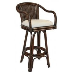 The Key West barstool is the perfect addition to your bar. The barstools feature commercial grade reinforced rattan bases, swivel mechanisms reinforced double pole footrests. It is a traditional wicke