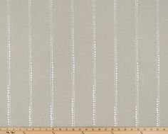 Taupe Grey Valance.  Dotted Stripe. Cove & White curtain. Carlo Cove…