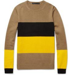 Marc by Marc JacobsFreddie Panelled Merino Wool Sweater
