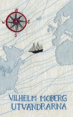 Utvandrarna av Vilhelm Moberg (E-bok) Embroidery Map, Cross Stitch Embroidery, Map Quilt, Quilts, Art Du Fil, Textiles, Map Art, Fabric Art, Cross Stitching