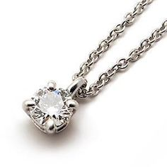 tiffany and co solitaire diamond necklace - Google Search