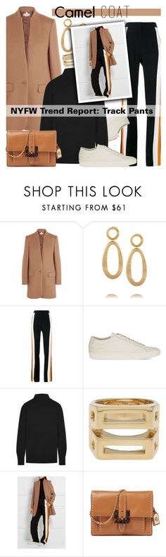 Camel coat-sneakers by cly88 on Polyvore featuring Equipment, STELLA McCARTNEY, Lauren Ralph Lauren, Kenneth Jay Lane, Chloé and Common Projects