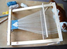 how to build a loom frame.  Yeah right like I'm ever gonna do this.  Well, maybe one day...