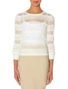 Sheer Stripe Layering Sweater from THELIMITED.com